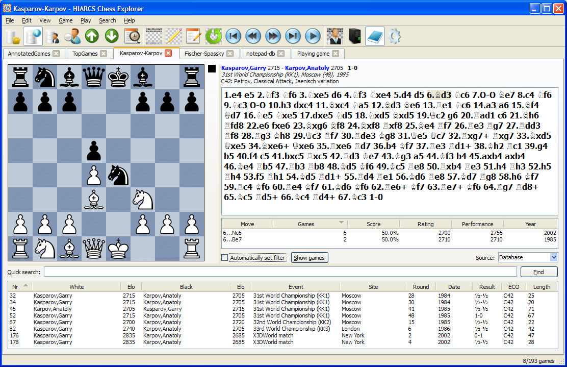 Chess software deals