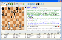 PC Chess Explorer main display with chess game and database