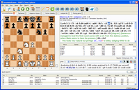 PC Chess Explorer showing chess opening moves and multiple databases