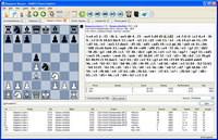 PC Chess Explorer main display with chess game, opening book and  and database