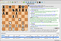 Mac Chess Explorer main display with chess game and database