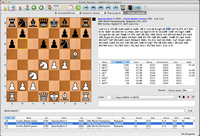Mac Chess Explorer showing chess opening moves and multiple databases